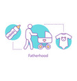 fatherhood concept icon vector image