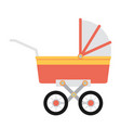 flat baby carriage vector image vector image
