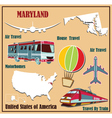 Flat map of Maryland vector image vector image