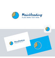 graph logotype with business card template vector image vector image