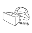 Graphic virtual reality headset vector image