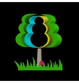 Graphical abstract tree on a black background vector image