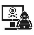hacker activity icon simple style vector image vector image