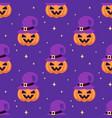 halloween seamless pattern of cute pumpkin vector image vector image
