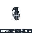 Hand grenade icon flat vector image vector image