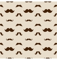 Hipster Mustaches Seamless Pattern vector image vector image