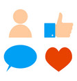 icons of social networks vector image