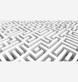 labyrinth 3d maze game classic box labyrinth in vector image