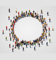 large group of people in the chat bubble shape vector image vector image