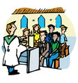 mass or service in a church vector image vector image