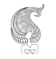 Mermaid portrait zentangle sketch for your design vector image