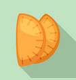 mexican patty icon flat style vector image