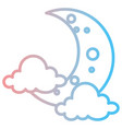 moon night with clouds vector image vector image