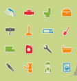 plumbing service simply icons vector image