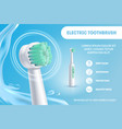 realistic detailed 3d electric toothbrush ads vector image vector image