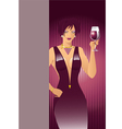 red-wine-girl vector image vector image