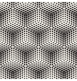 Seamless Black And White Halftone Geometric vector image vector image