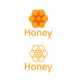 set logo template with honeycomb vector image