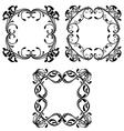 set vintage floral frames vector image vector image
