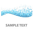 squares texture blue fish vector image vector image
