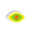stylish icon in paper sticker style eye problems vector image vector image