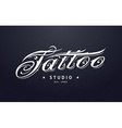 Tattoo Lettering vector image vector image