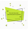 thanksgiving day quote of diarist anne frank vector image