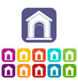 toy house icons set vector image vector image