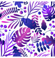 trendy gradient colorful neon purple leaves on vector image vector image