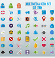 trendy line icons - multimedia vector image vector image