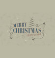 vintage christmas and new year banner with vector image