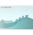 winter big sale vector image vector image