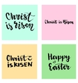 Christ is Risen Easter lettering set Happy vector image