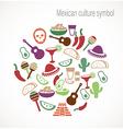 Mexican culture symbols vector image