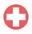 Cross in red circle vector image