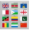 Flags of world flat Set number 07 vector image