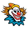 Fun circus clown in cartoon style vector image