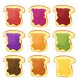 a set of nine sandwiches - chocolate banana jelly
