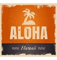 aloha word in vintage colors retro vector image