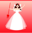 angry bride cute bride expression facesevil vector image vector image