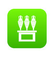 antique jugs icon digital green vector image