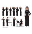arab women character set emotions arabian vector image vector image