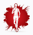 athlete runner a woman runner running vector image