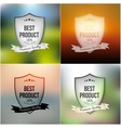 Best product shields set isolated on blurred vector image