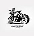 biker motorcycle grunge silhouette retro emblem vector image vector image