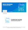 blue business logo template for backup data files vector image vector image