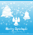 blue christmas and new year background vector image vector image