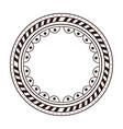 boho circular frame icon vector image
