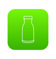 bottle shampoo icon green vector image vector image