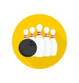 Bowling single icons vector image